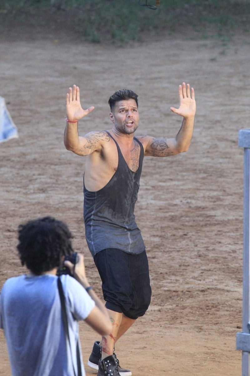 11.mar.2014 - Ricky Martin gravou clipe da canção
