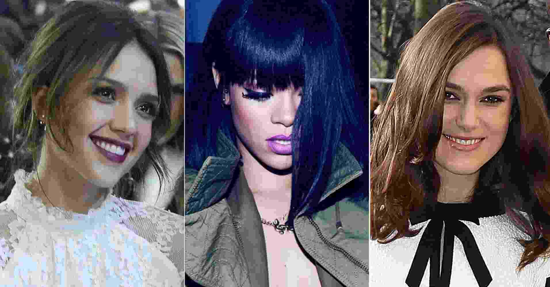 Jessica Alba, Rihanna e Keira Knightley - Getty Images/Reprodução/Instagram/Montagem/UOL