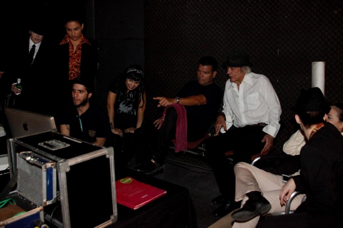 13.mar.2014 - Erasmo Carlos grava clipe da música