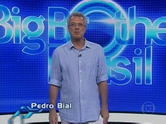 13.mar.2014 - O apresentador Pedro Bial anuncia que a prova do líder será em dupla: Brothers com suas mães ou tias