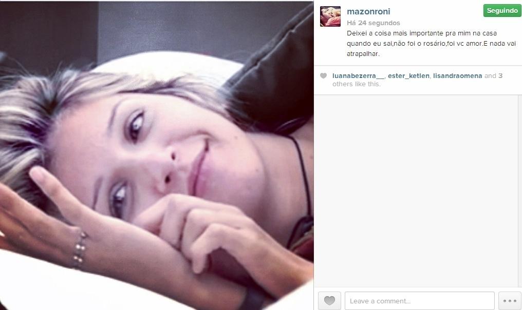 13.mar.2014 - Roni se declara para Tatiele: