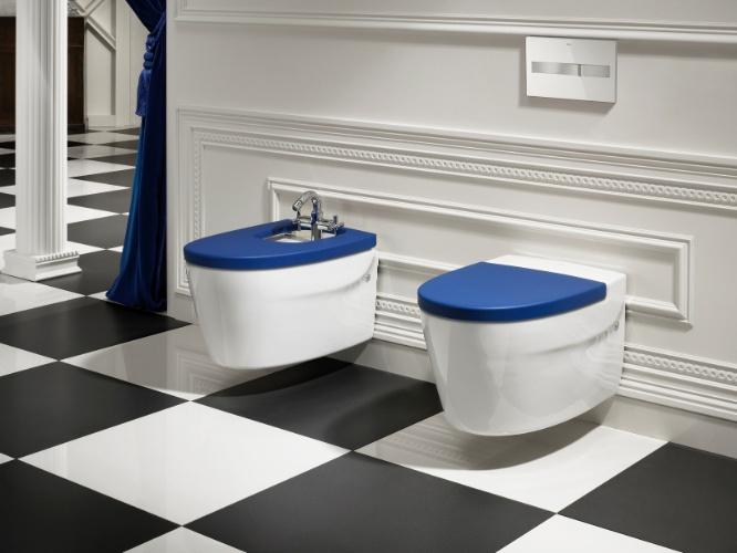 A bacia sanitária Khroma da Roca (www.br.roca.com) compõe a coleção assinada pelo designer austríaco Erwin Leo Himmel