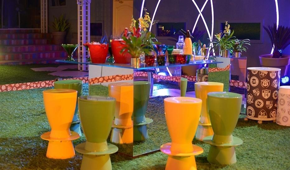 12.mar.2014 - Na Festa Brasileiros, as cores verde e amarelo ditam o tom da decoração da festa