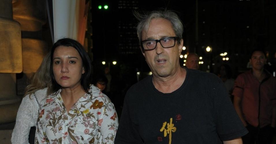 13.mar.2014 - Ary França no velório de Paulo Goulart no Theatro Municipal, em São Paulo
