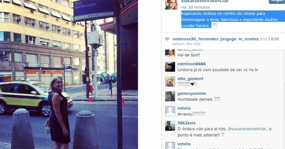 13.mar.2014 - Susana Vieira usou seu Instagram para se solidarizar com a atriz Lucélia Santos, que foi flagrada por uma fã andando de ônibus