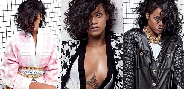 Rihanna para campanha da grife francesa Balmain - Reprodução/Balmain/Internet