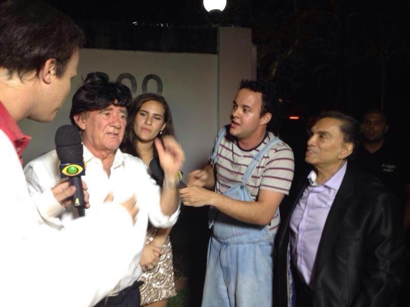 15.mar.2014 - Antes de passar mal e ser internado, Renato Aragão gravou uma entrevista para o programa