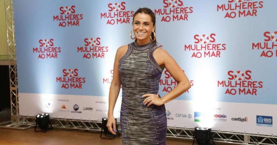 """17.mar.2014 - Giovanna Antonelli na pré-estreia do filme """"S.O.S Mulheres ao Mar"""" no Rio de Janeiro"""