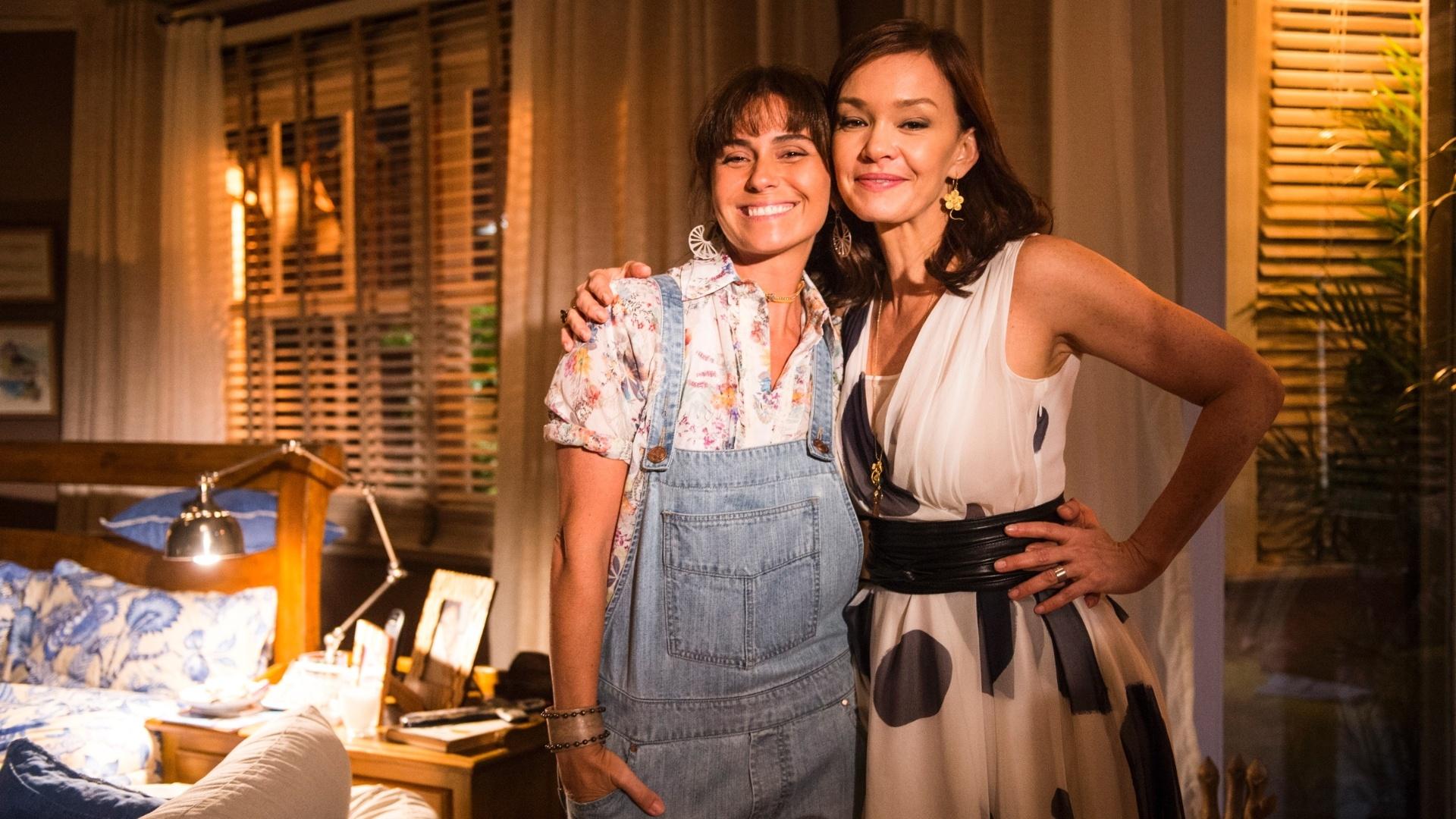 13.jan.2014 - Clara (Giovanna Antonelli) e Helena (Julia Lemmertz) de
