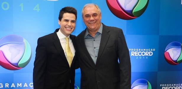 18.mar.2014 - Os apresentadores Luiz Bacci e Marcelo Rezende - Manuela Scarpa/Photo Rio News