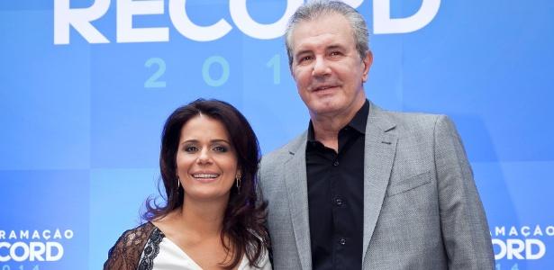 """Adriana Araújo e Celso Freitas, apresentadores do """"Jornal da Record"""" - Edu Moraes/Divulgação"""