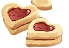 Em formato de coração, biscoitinho com recheio de geleia é receita fácil