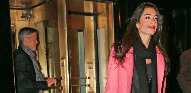 George Clooney e a noiva, a advogada Amal Alamuddin