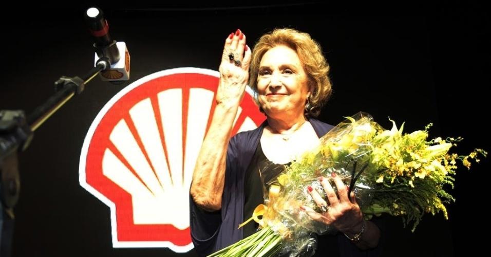 18.mar.2014- Eva Wilma é a homenageada da 26ª edição de São Paulo do Prêmio Shell de Teatro