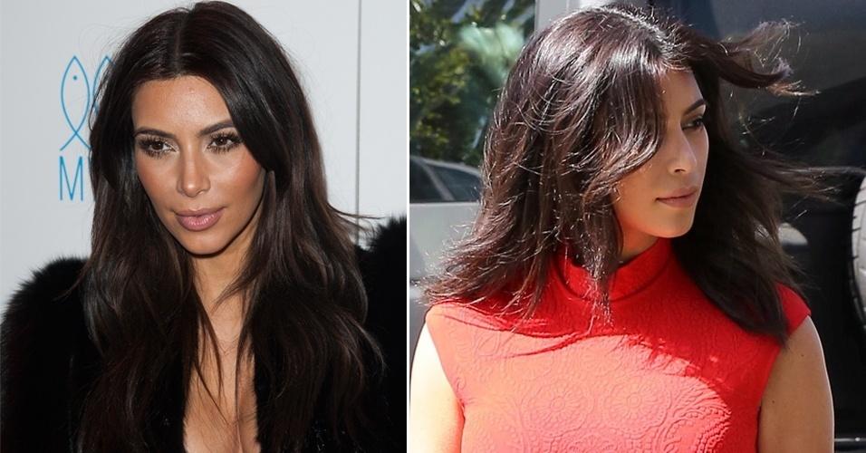 MARÇO - Em passeio com o noivo, Kanye West, a socialite Kim Kardashian foi 5dbdffd514