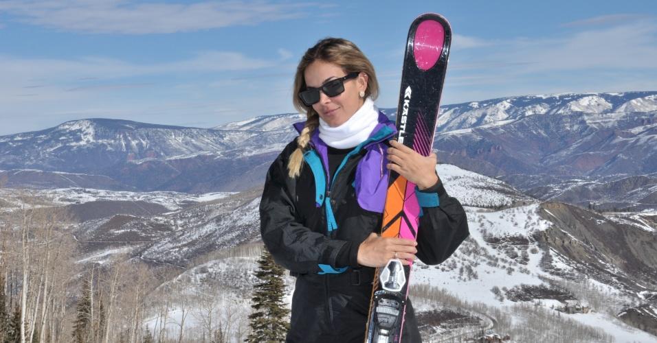 21.mar.2014 - Recém-chegada de uma estação de esqui, nos Estados Unidos, Robertha Portella, contratada da Record, já está na lista de elenco da próxima novela de Gisele Joras