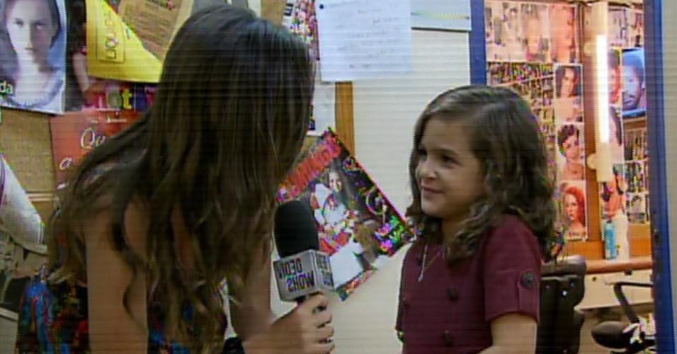 """22.mar.2014 - Mel Maia é entrevistada pelo """"Vídeo Show"""""""