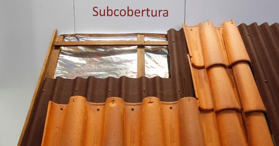As telhas feitas de resina, betume e fibra de celulose (conseguida a partir da reciclagem de papel) da Onduline (www.onduline.com.br) podem ser utilizadas como subcobertura para o restauro de telhados de casas antigas. A vantagem do produto é sua extrema leveza. A opção de utilização foi divulgada pela empresa na 20ª edição da Feicon Batimat (Salão Internacional da Construção), em cartaz de 18 a 22 de março de 2014, em São Paulo