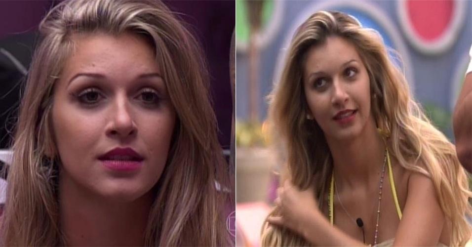 mar.2014 - A ex-miss Cianorte Tatiele também mudou o visual dentro do
