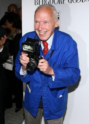 O fotógrafo Bill Cunningham participa de evento em 2008 em homenagem à sua carreira e organizado pela loja Bergdorf Goodman, em Nova York - Getty Images