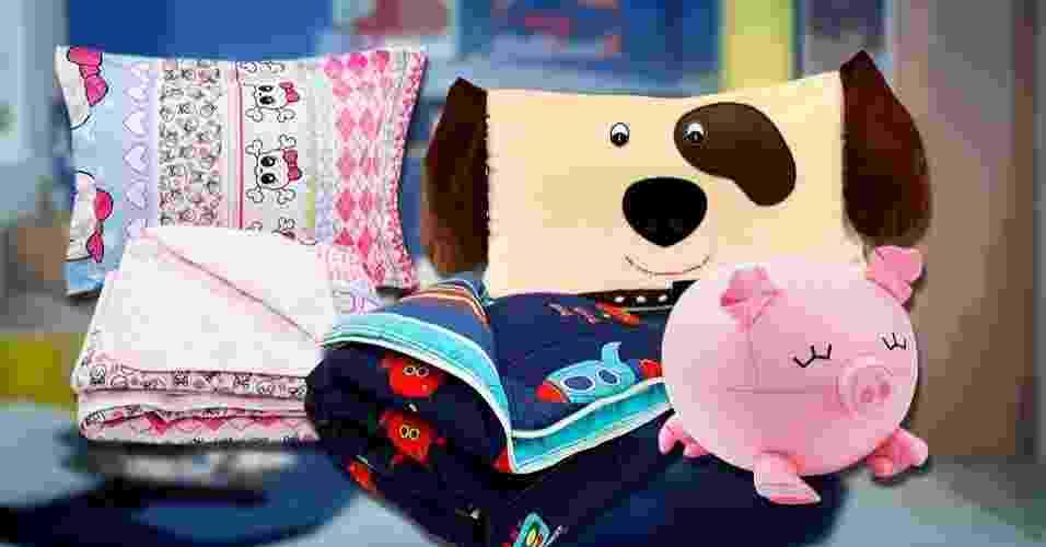 tela de abertura do álbum com roupas de cama para o quarto das crianças - Montagem/UOL