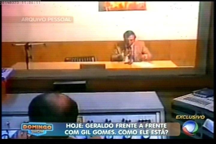"""23.mar.2014 - Geraldo Luís prometeu uma entrevista com Gil Gomes, lendário repórter do programa """"Aqui Agora"""", em seu novo programa na Record, """"Domingo Show"""""""