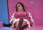 Angela elabora lista de amigos e diz que não conversará com Aline e Letícia - Reprodução/TV Globo
