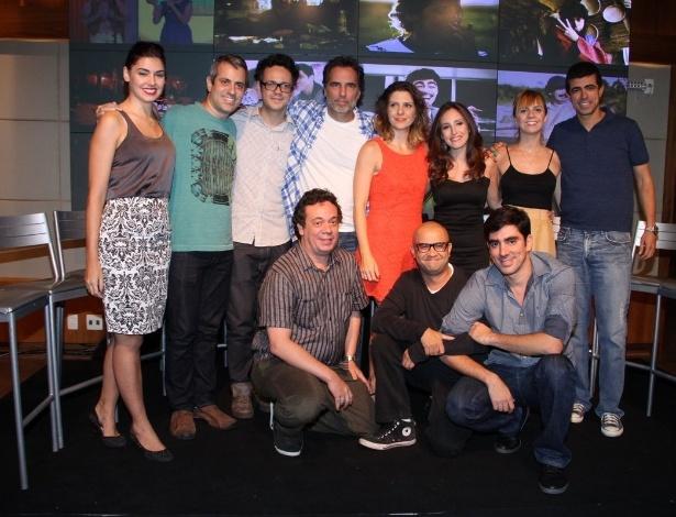 """24.mar.2014 - Elenco divulga para a imprensa o humorístico """"Tá no Ar: A TV na TV"""", que estreia em abril, na Globo"""