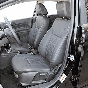 Versão Titanium do Ford New Fiesta já vem de série com os assentos revestidos em couro   - Murilo Góes/UOL