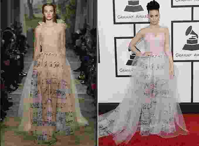 Katy Perry com vestido Valentino - Divulgação/ Getty Images