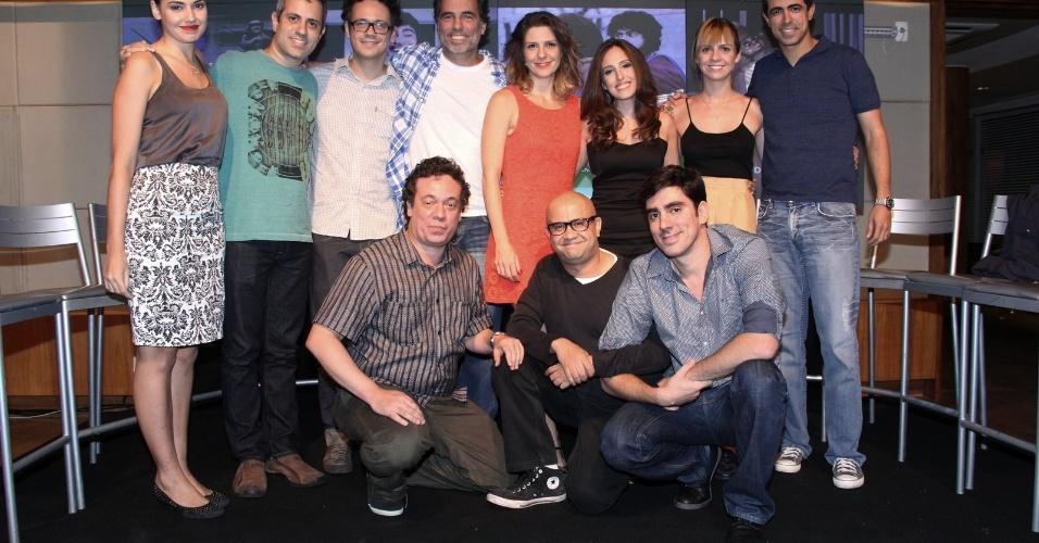 """24.mar.2014 - Elenco do humorístico """"Tá no Ar: A TV na TV"""", que estreia em abril, na Globo"""