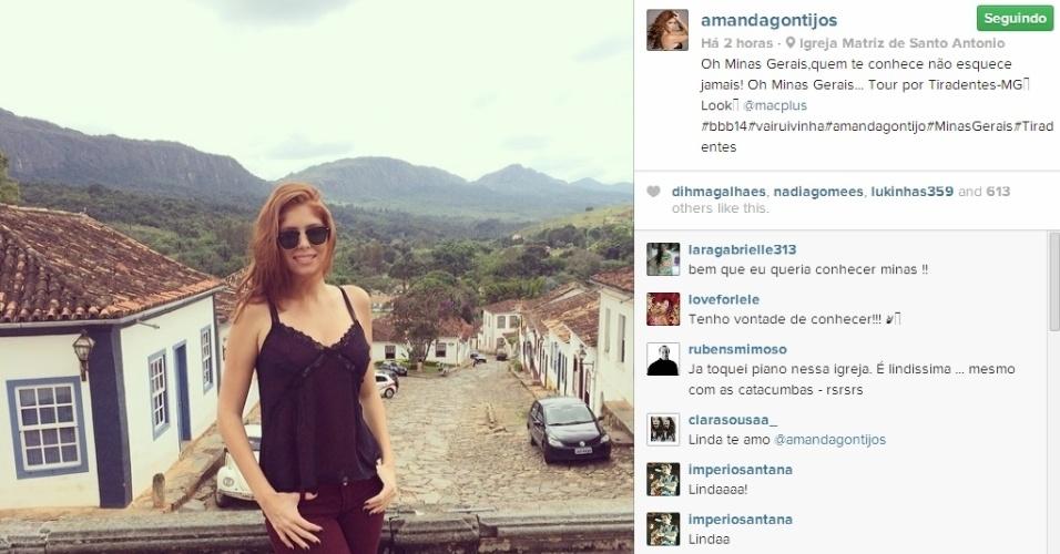 25.mar.2014 - Em Tiradentes (MG), Amanda posta foto e escreve: