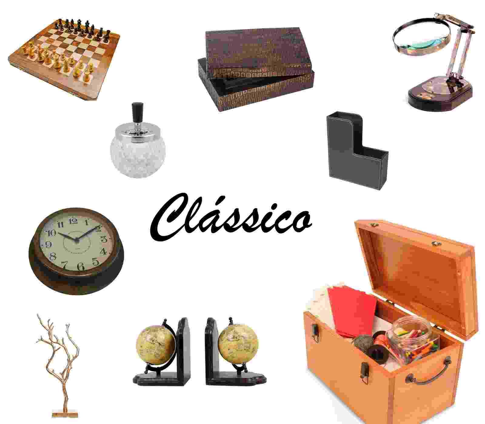 Veja acessórios para home - office com tema clássico - Arte / UOL