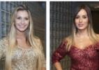 """""""Mesma porcentagem, mesmo vestido"""", escreve Letícia em montagem com Tatiele - Reprodução/ Instagram/ le_santiago"""