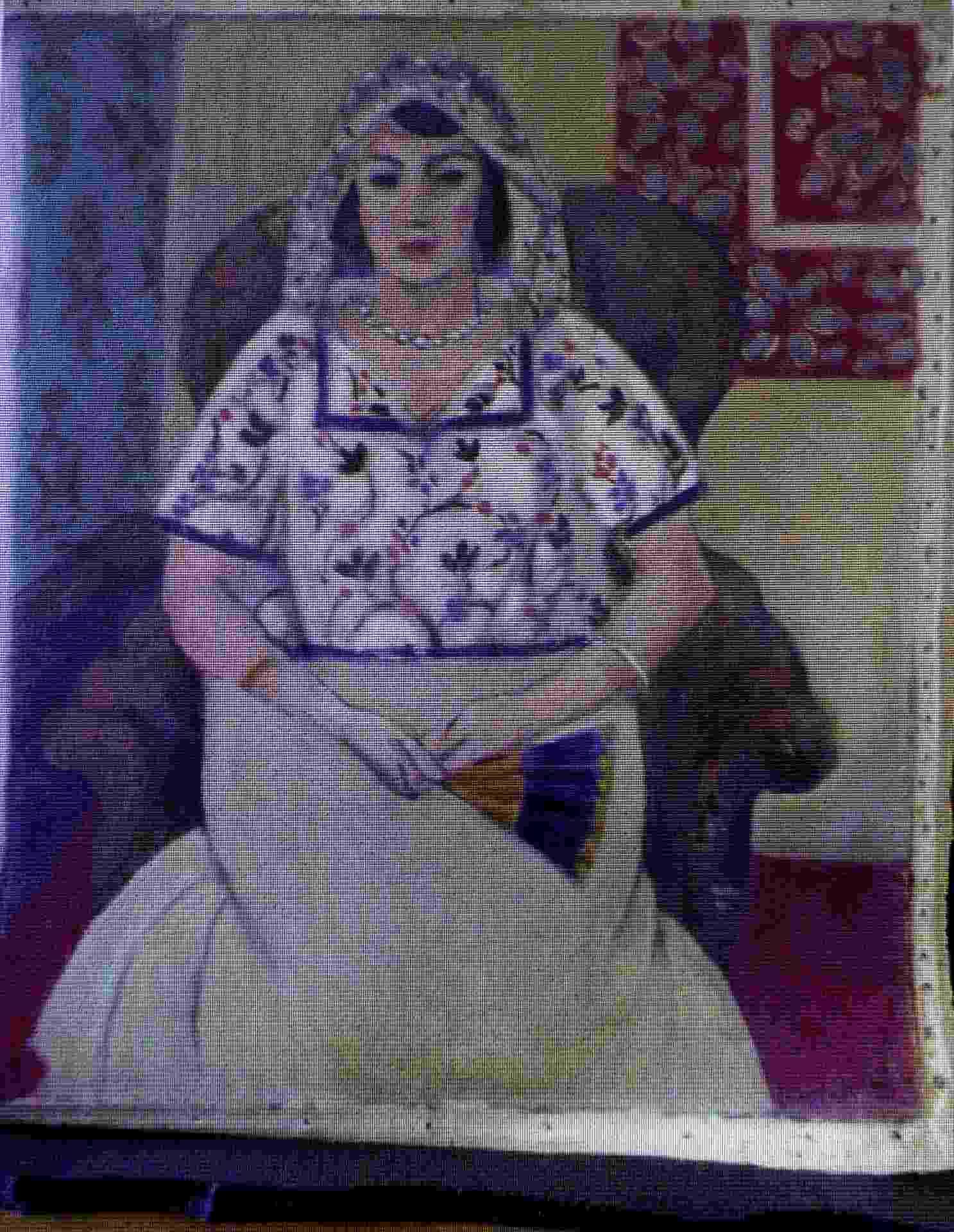 """5.nov.2013 - Reprodução de uma pintura do francês Henri Matisse entitulada """"Mulher Sentada"""", é é mostrada durante uma entrevista coletiva em Augsburgo, no sul da Alemanha, sobre a descoberta de mais de 1.400 obras de arte no apartamento de Cornelius Gurlitt em Munique - Christof Stache/AFP"""