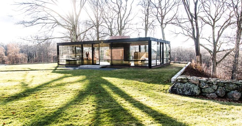 (Imagem do NYT, usar apenas no respectivo material) - Restauro da Casa de Vidro, de Philip Johnson