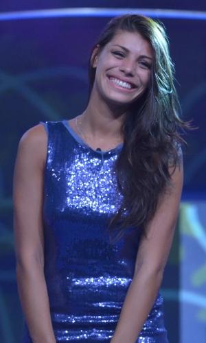 04.mar.2014 - Eliminada, Franciele deixou o programa com 66% dos votos