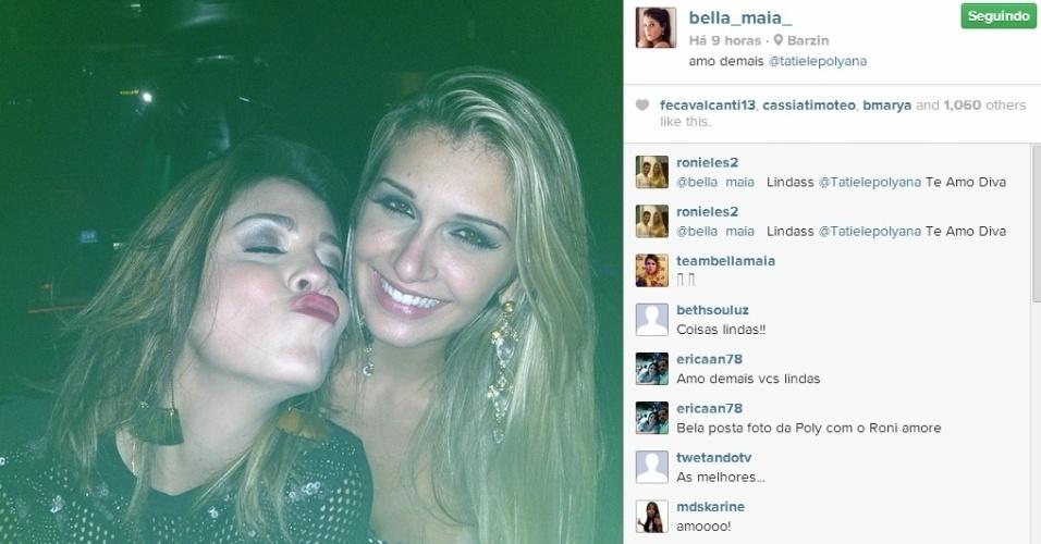 27.mar.2014 - Bella e Tatiele curtem o aniversário de Junior.