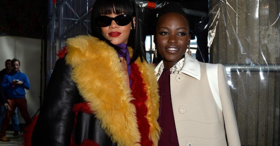 Lupita Nyong'o e Rihanna para álbum