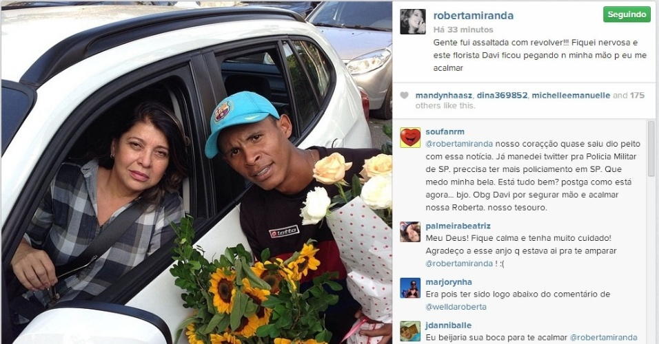 27.mar.2014 - Roberta Miranda é assaltada nos Jardins, em São Paulo