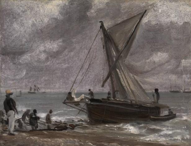 """28.mar.2014 - """"Beaching a Boat, Brighton"""", obra de John Constable, será devolvida pelo Tate Gallery por ter sido roubada pelos nazistas - Reprodução"""