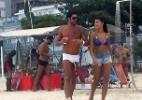 Diego e Franciele curtem a praia de Ipanema, na zona sul do Rio de Janeiro - Photo Rio News