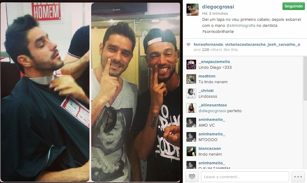 31.mar.2014 - Diego encontra Valter no dentista: