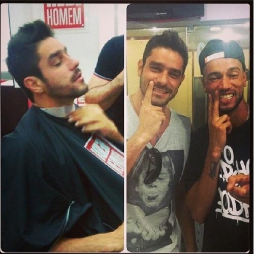 """31.mar.2014 - Diego encontra Valter no dentista: """"Dei um tapa no visual primeiro cabelo, depois esbarrei com o mano @slimrimografia no dentista #sorrisobrilhante"""""""
