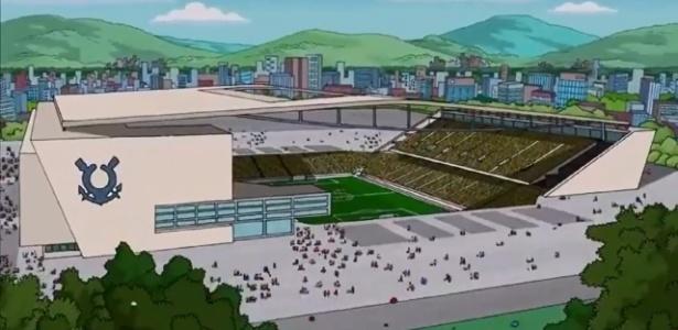 """Estádio do Itaquerão aparece em episódio de """"Os Simpsons"""" que falou sobre a Copa do Mundo no Brasil"""