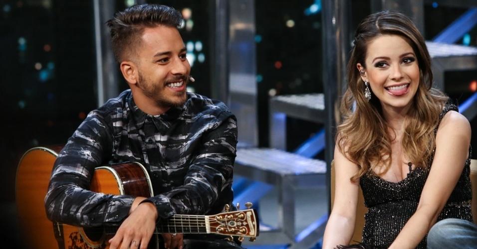 31.mar.2014 - Junior e Sandy dão entrevista a Jô Soares