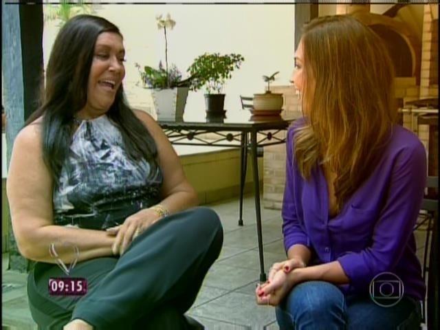 31.mar.2014 - Talitha Morete entrevistou Selysette, mãe de André Marques