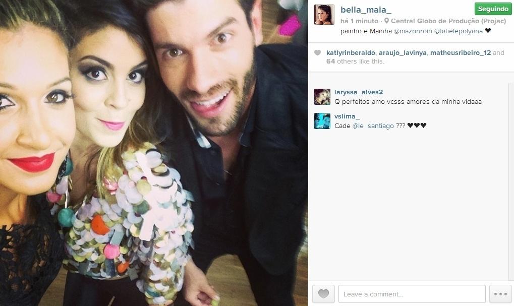 01.abr.2014 - Ao lado do casal Roni e Tatiele, Bella escreve: