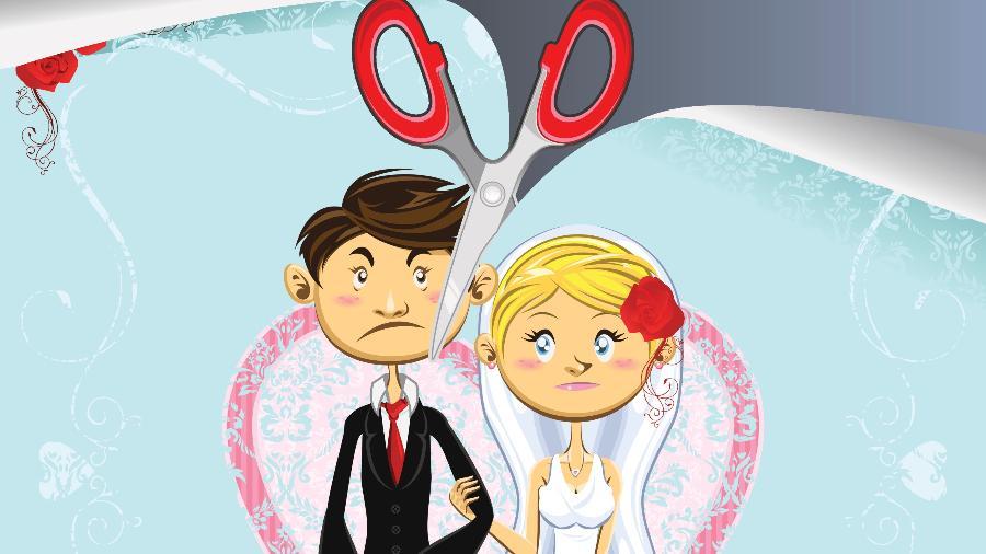 O número de separações após um ano de casamento aumentou 466,8%  - Getty Images