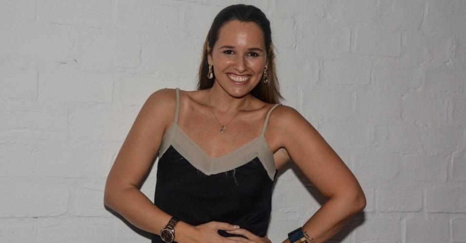 """01.abr.2014 - A cantora Mariana Belém também presente na exibição da final do """"Big Brother Brasil 14"""", na noite desta terça-feira (1)"""